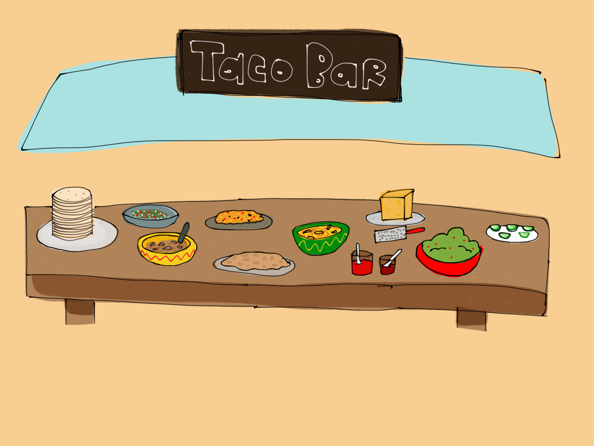 Taco Bar by Cairo Ziebarth